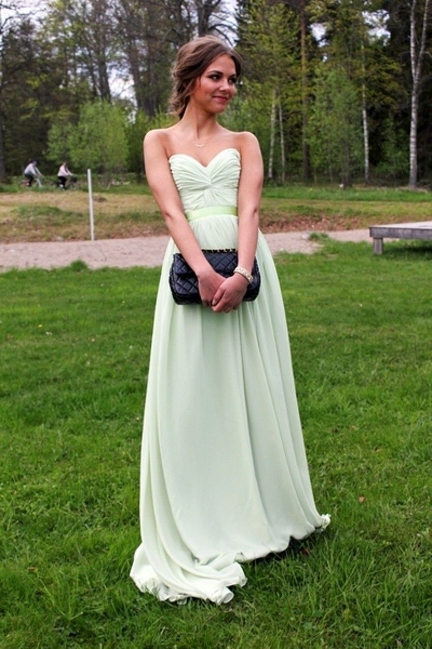 Buy floor length prom dress sage sweetheart petite ruched chiffon