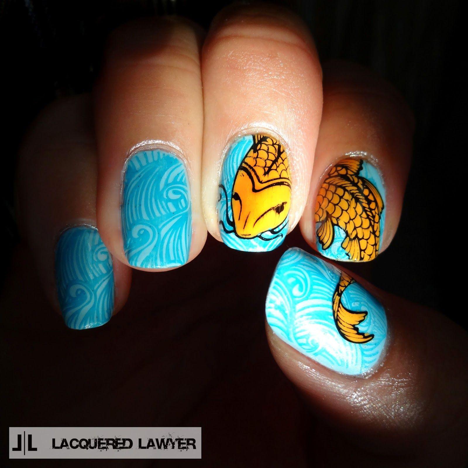 Don\'t Be Koi | Nail art blog, Koi and Nail stamping plates