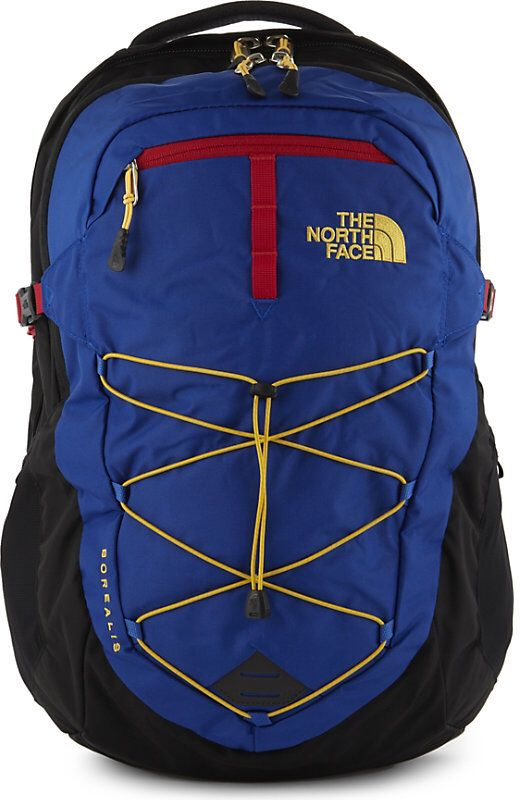 b7c0fa329 North face, borealis backpack, blue with yellow and red accents ...