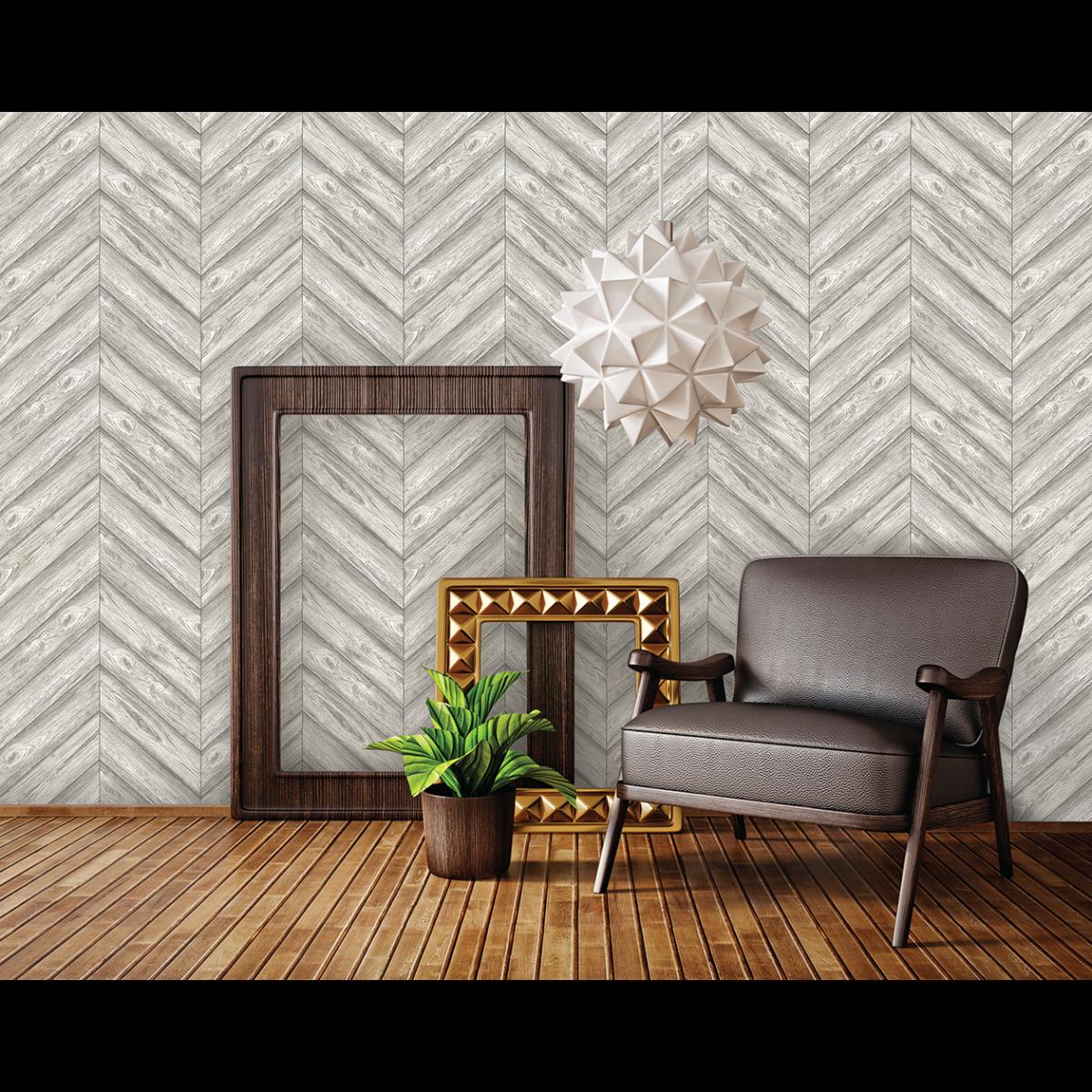 Herringbone Ash Tempaper Textured Shop Temporary Wallpaper Herringbone Wallpaper Home Decor