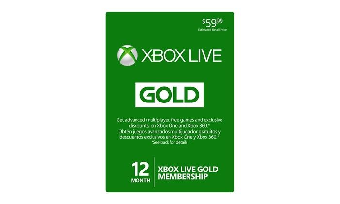 Microsoft Xbox Live 12 Month Gold Card With Images Xbox Live Xbox Xbox One Price