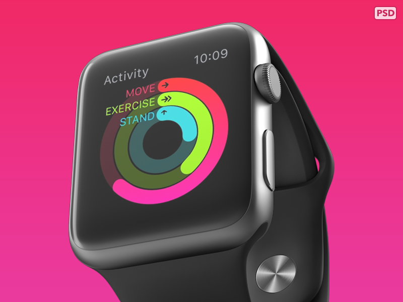 Free Psd From 360 Apple Watch Mockups Free Apple Watch Apple Watch Design Psd Mockup Template