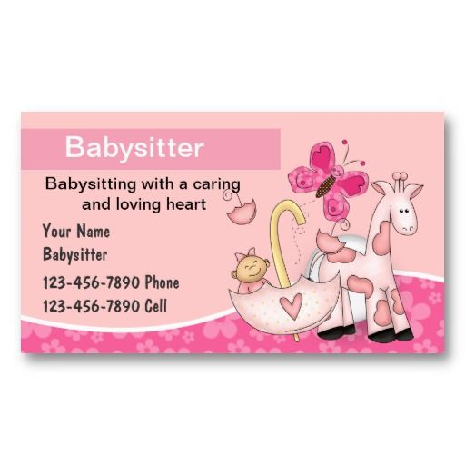 Babysitting Business Cards Zazzle Com Babysitting Activities Babysitting Babysitter