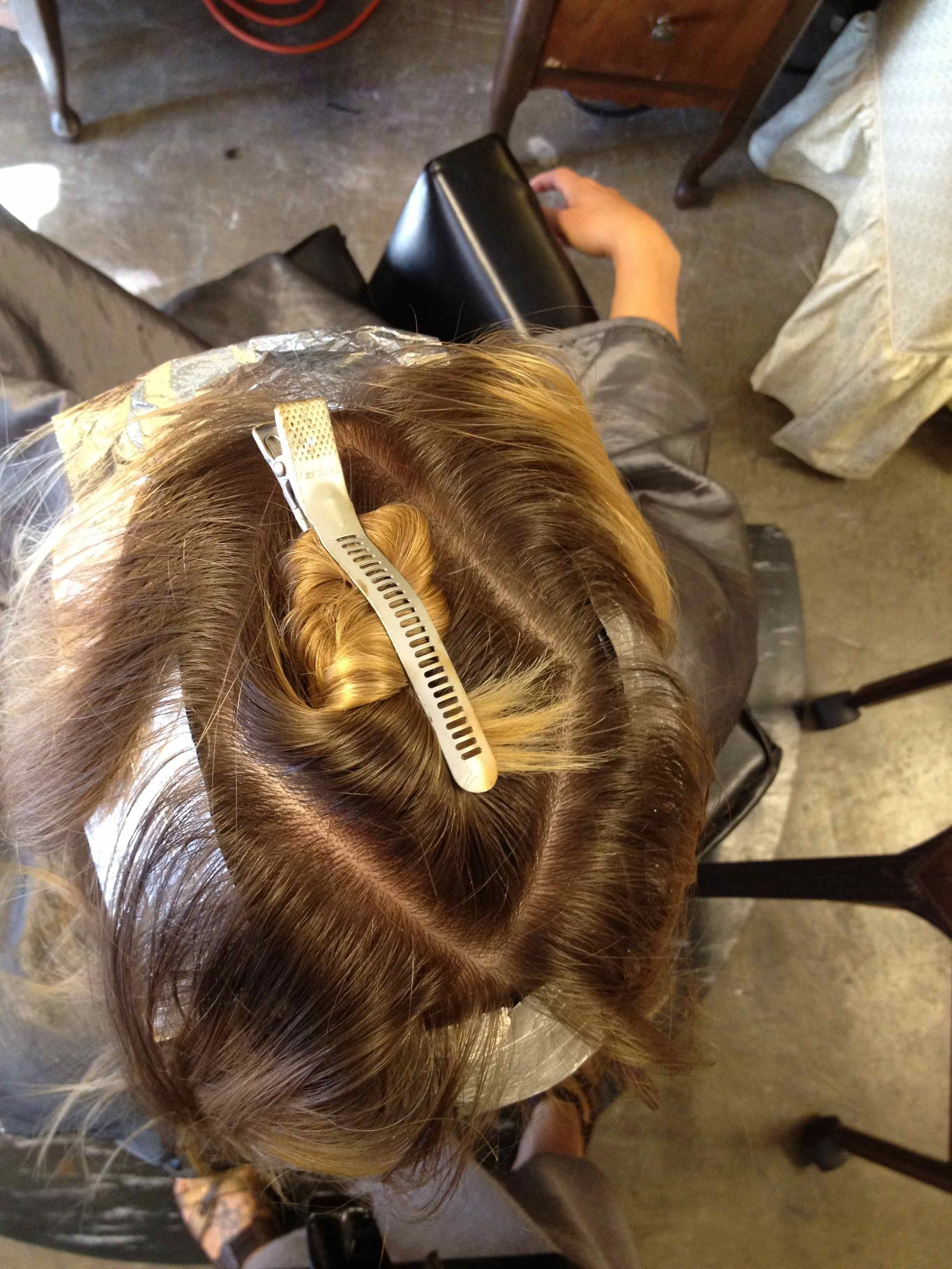 Sectioning Hair And Foiling Cosmetology Charts Reference Tools