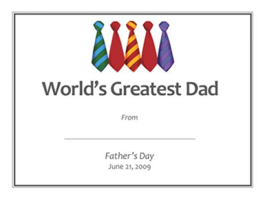 Father\'s Day Gift Ideas: Free Printable Gift Certificates Templates ...