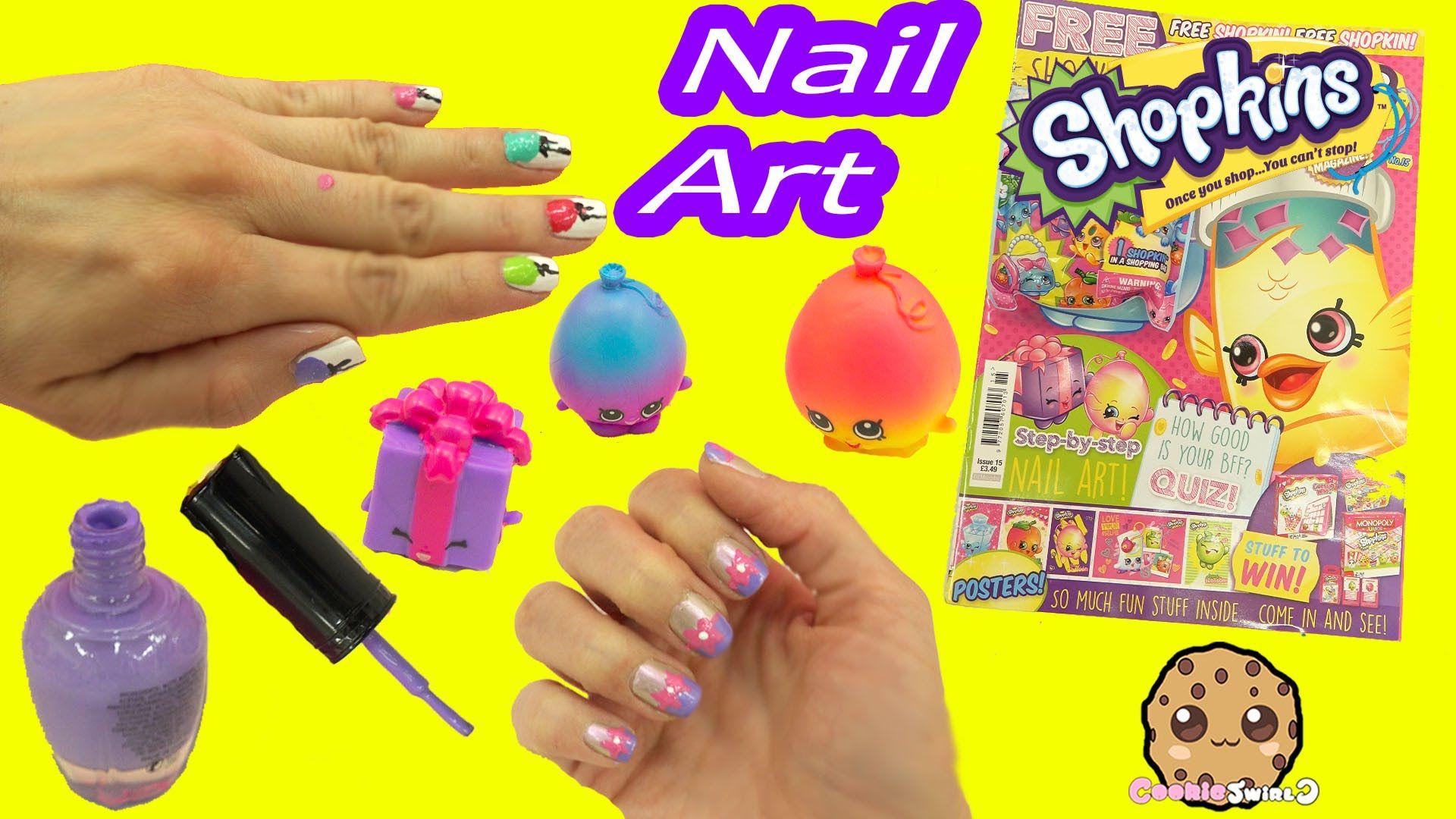 Nail Art Fail - Shopkins Official Magazine Nail Art Nail Polish Step ...