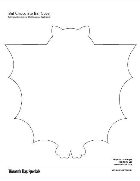 Bat Chocolate Bar Cover Bats! Pinterest Craft, Halloween - bat template