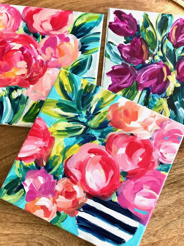 Beginner Flower Painting Tutorials Easy Flower Paintings On