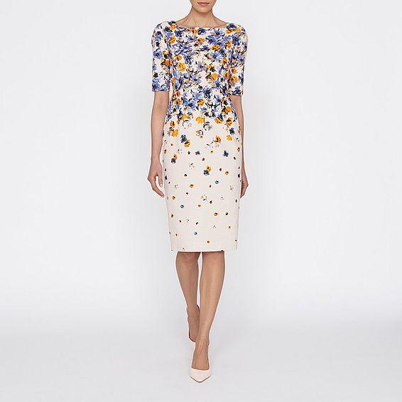 Devra Canvas Fl Printed Dress Clothing New Arrivals Collections L K Bennett
