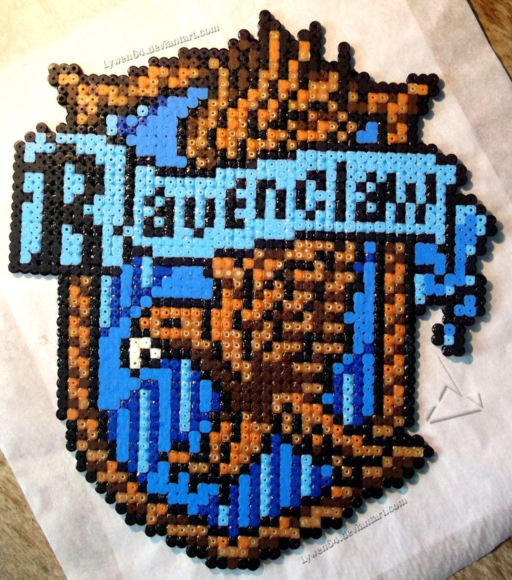 Ravenclaw crest - Harry Potter hama beads by Lywen64