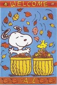Welcome Fall Snoopy Garden Flag 12x18 Peanuts Snoopy Woodstock Snoopy And Woodstock Peanuts Wallpaper