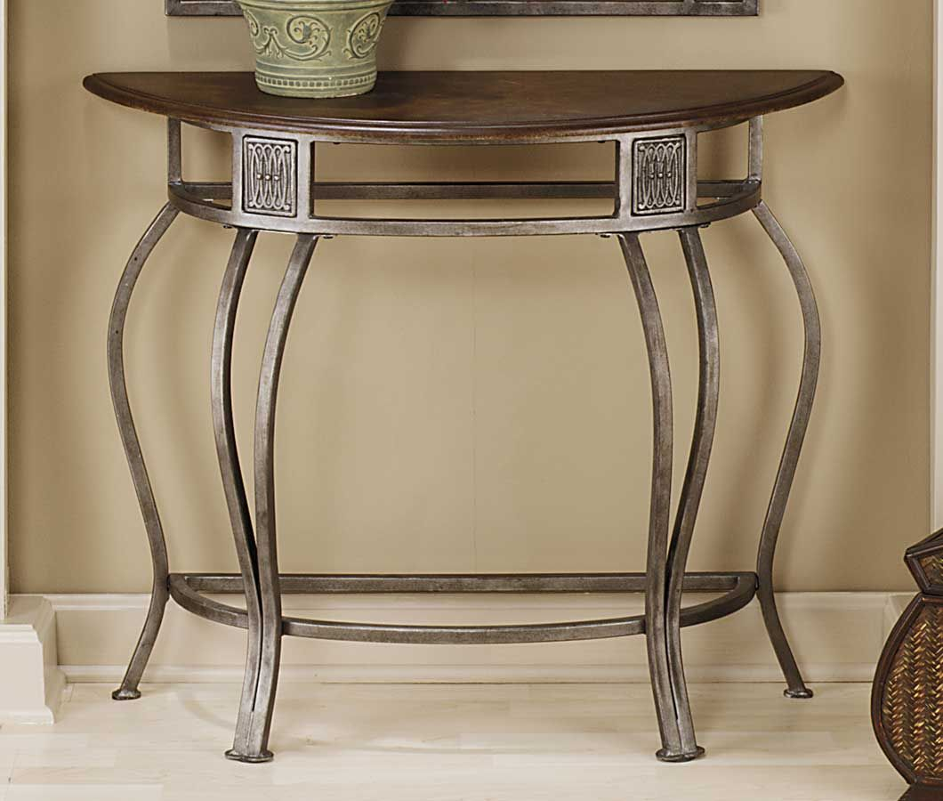 Hillsdale Montello Console Table With Wood Top Decoracao Para O