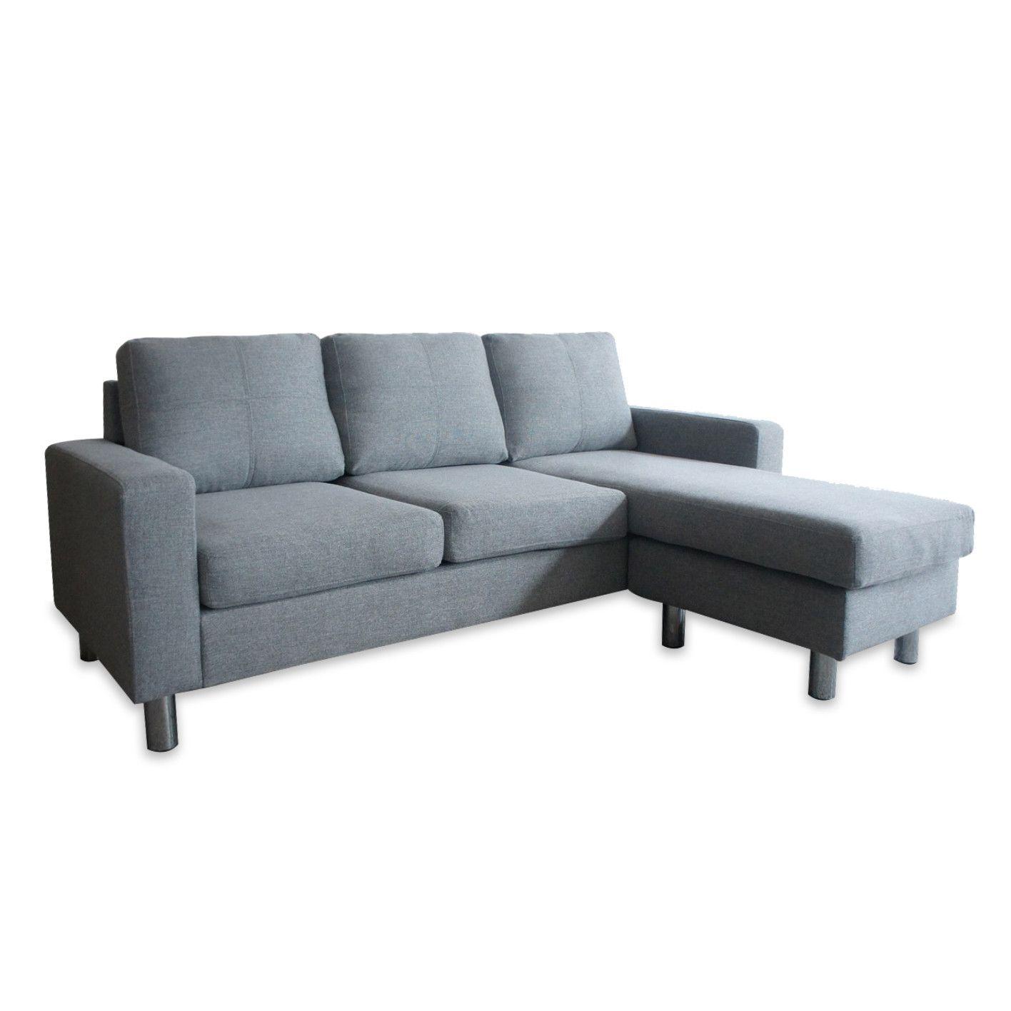 Roma Grey Adjule Fabric Corner Sofa Glam Home