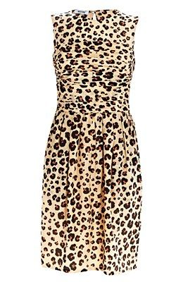 Moschino Cheap and Chic Leopard Rose Detail Dress