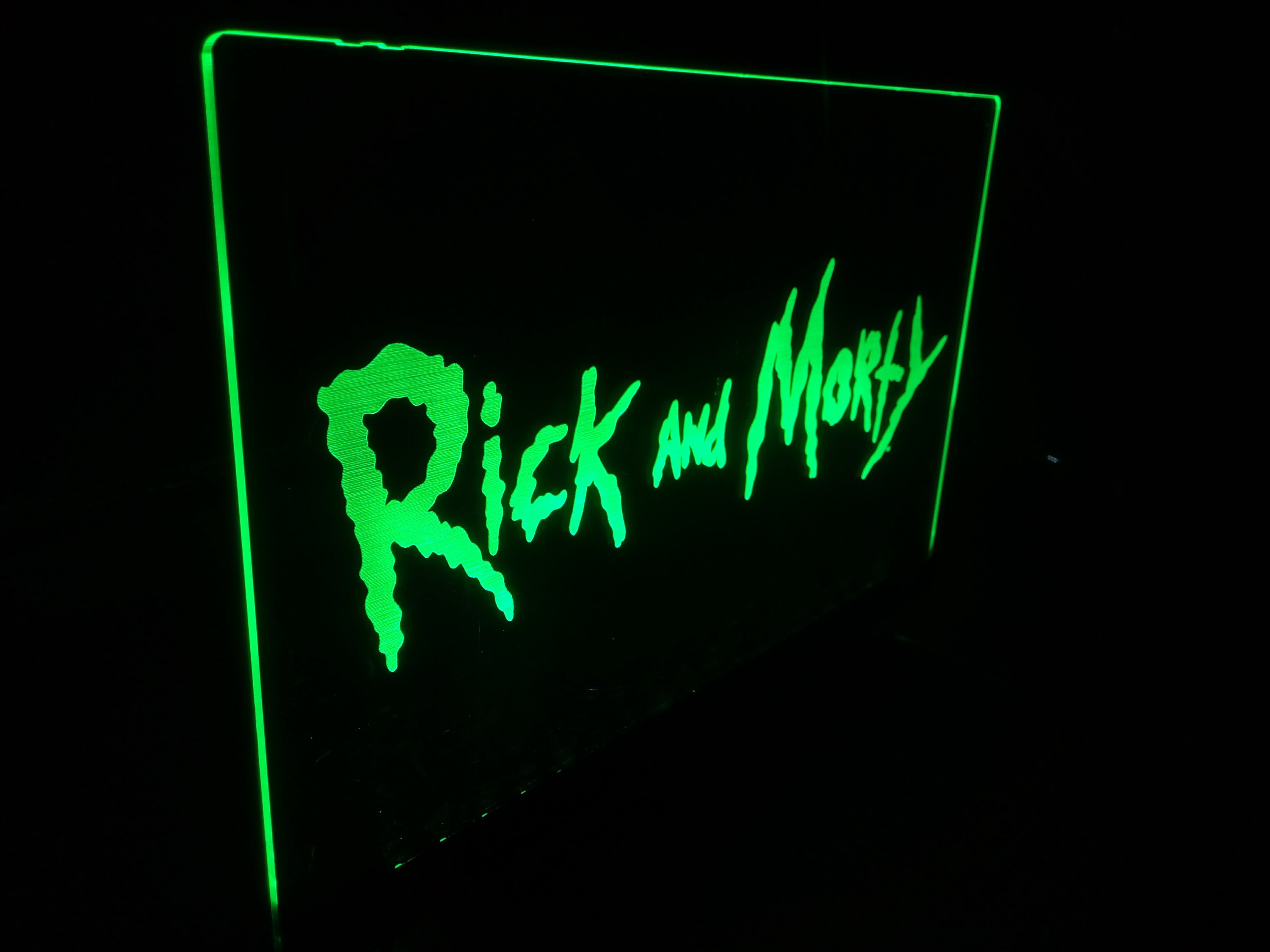 Rick and Morty logo lamp on wall night light on wall nightlight wall lamp gamer game room decor