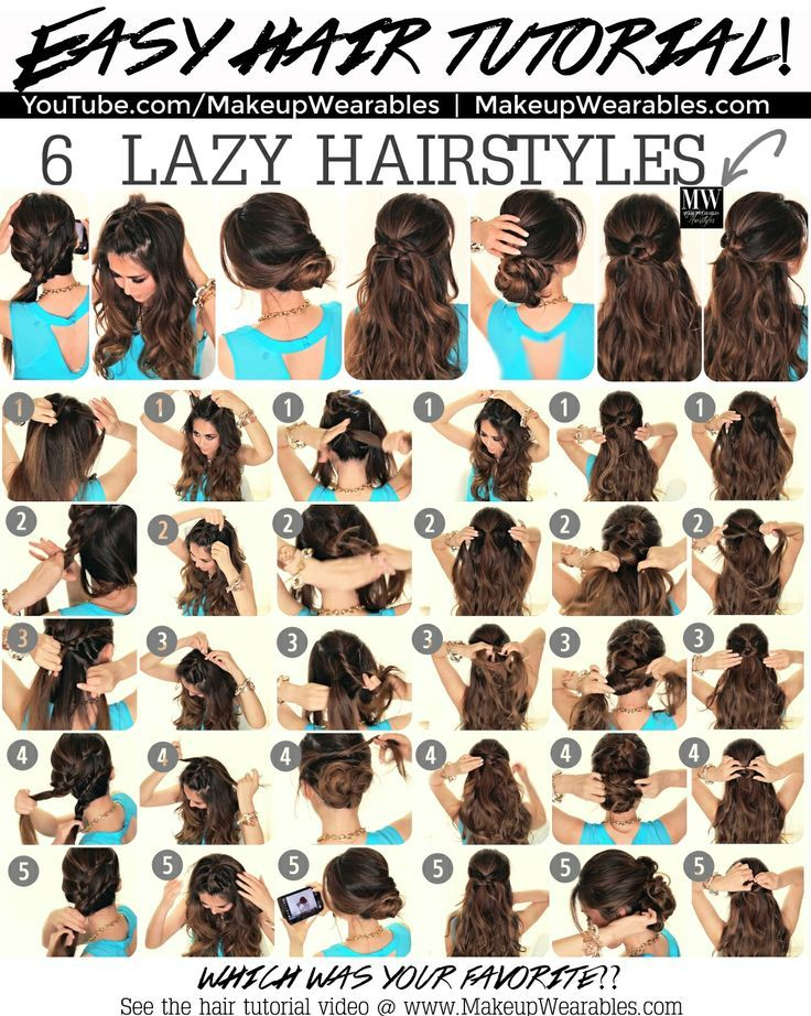 6 Lazy Hairstyles 5 Minute Easy Everyday Hair Style