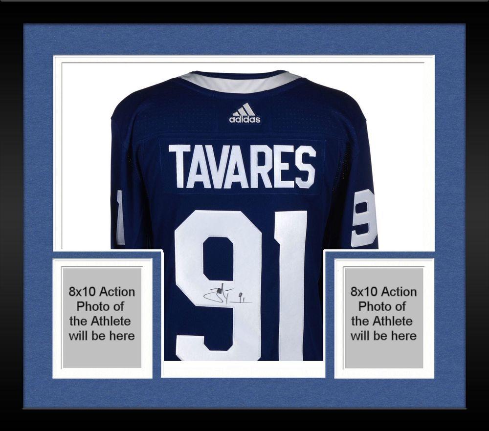 the latest a370e 1c852 Framed John Tavares Toronto Maple Leafs Autographed Blue ...