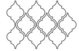 moroccan pattern stencil decora o. Black Bedroom Furniture Sets. Home Design Ideas