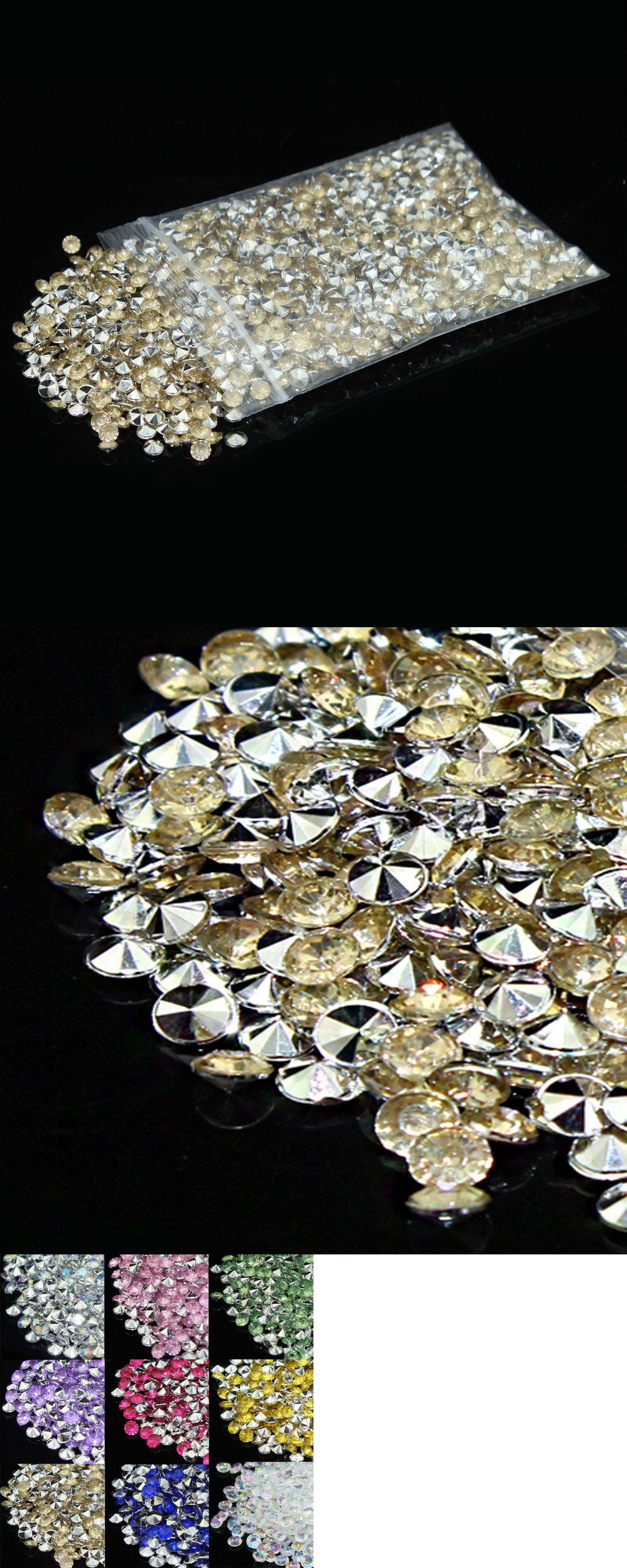 Confetti 98733: 100000 4.5Mm Wedding Decoration Crystals Diamond Table Confetti Champagneandsilver -> BUY IT NOW ONLY: $76.99 on eBay!