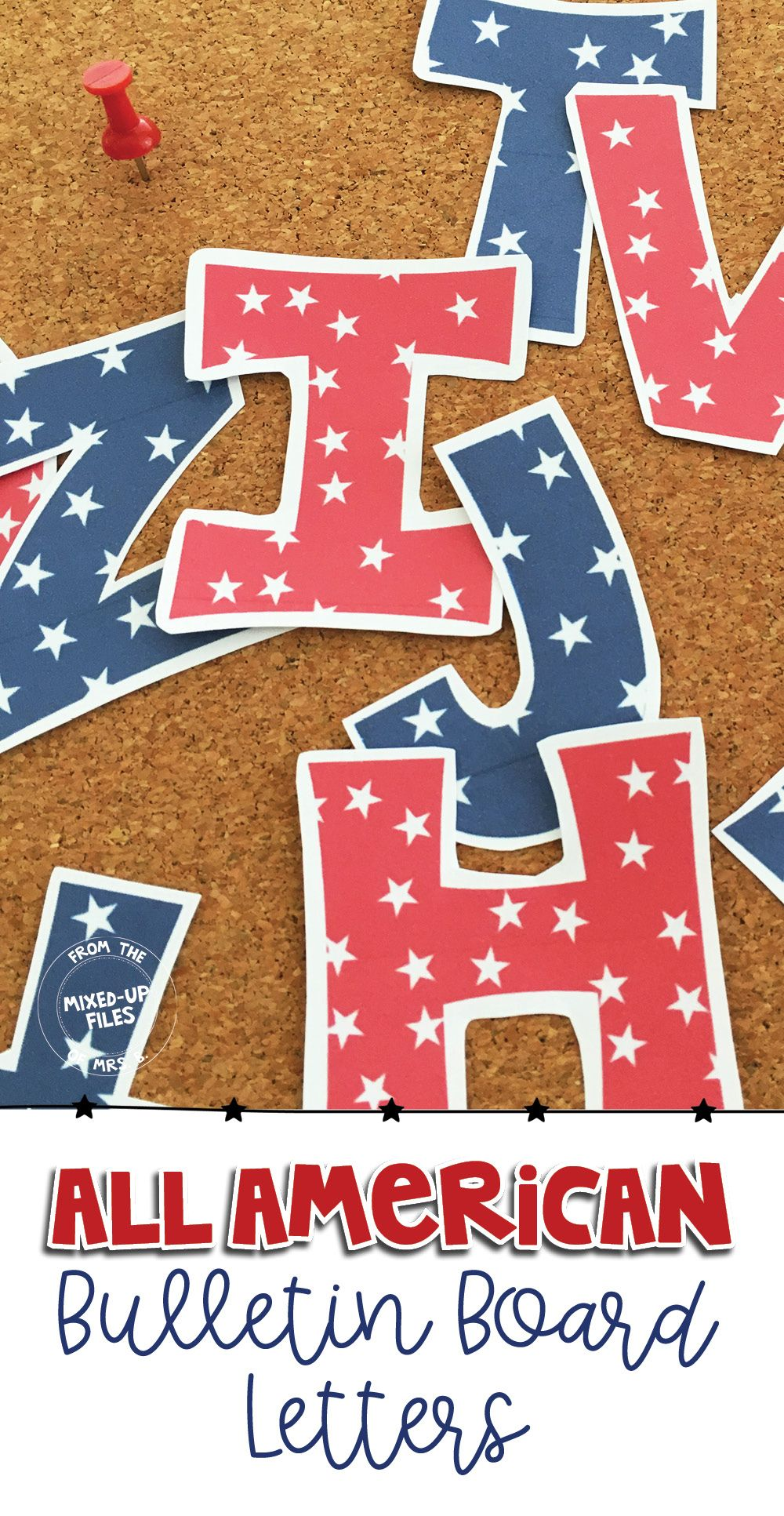 Patriotic Bulletin Board Letters Classroom Decor For Middle And
