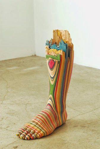 Haroshi, esculturas con monopatines (skateboards) reciclados