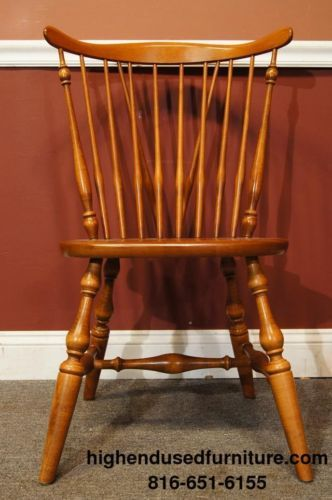 ETHAN ALLEN Heirloom Nutmeg Maple Fiddleback Duxbury Side Chair 10 6020