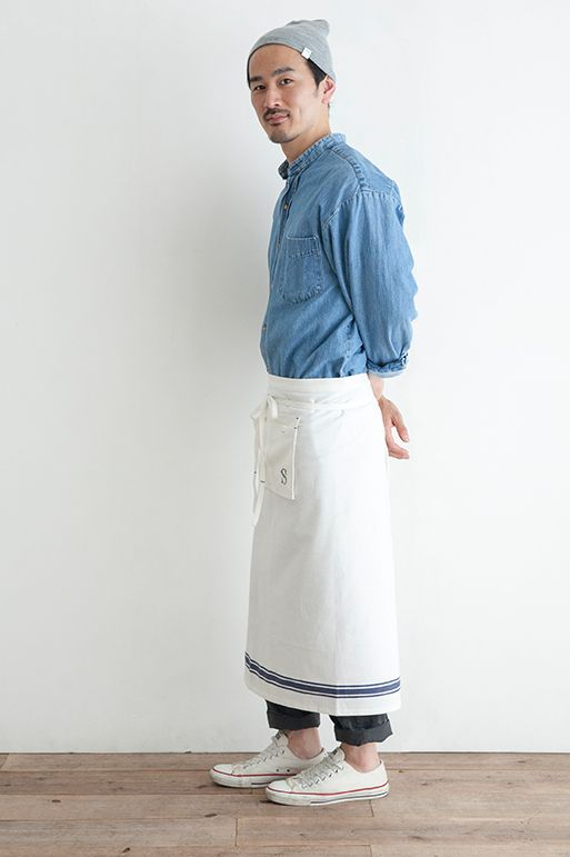 INDIAN COTTON GARCON APRON Simply online shop(シンプリー公式通販