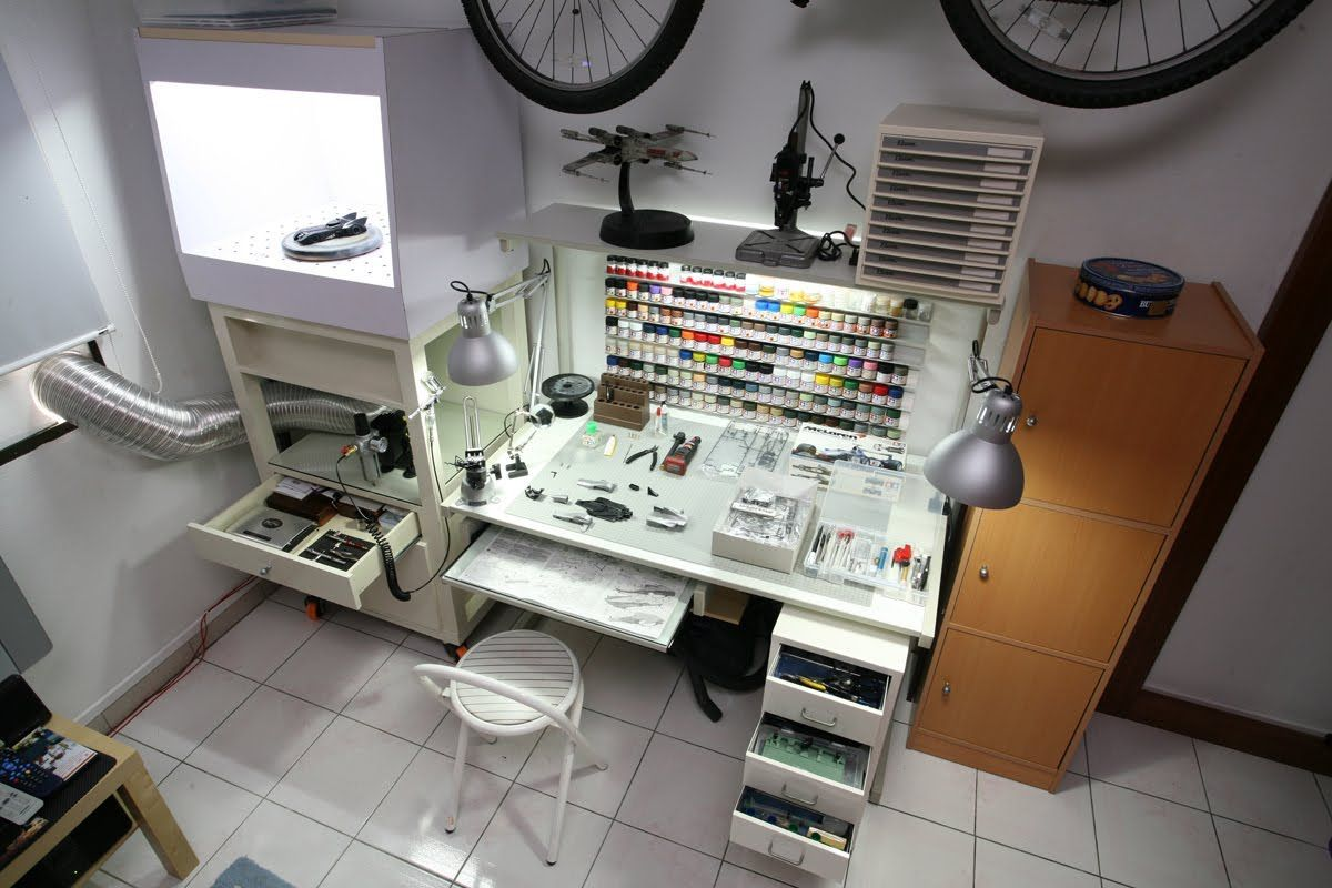 workbenches Hobby room, Workstation, Hobby desk
