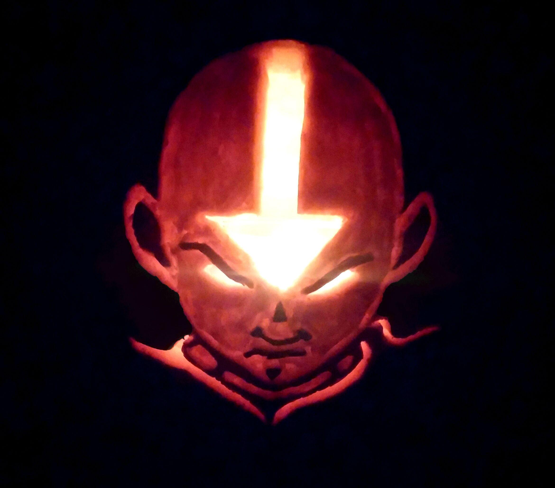 [No Spoilers] My Aang Pumpkin! Aang, Pumpkin carving