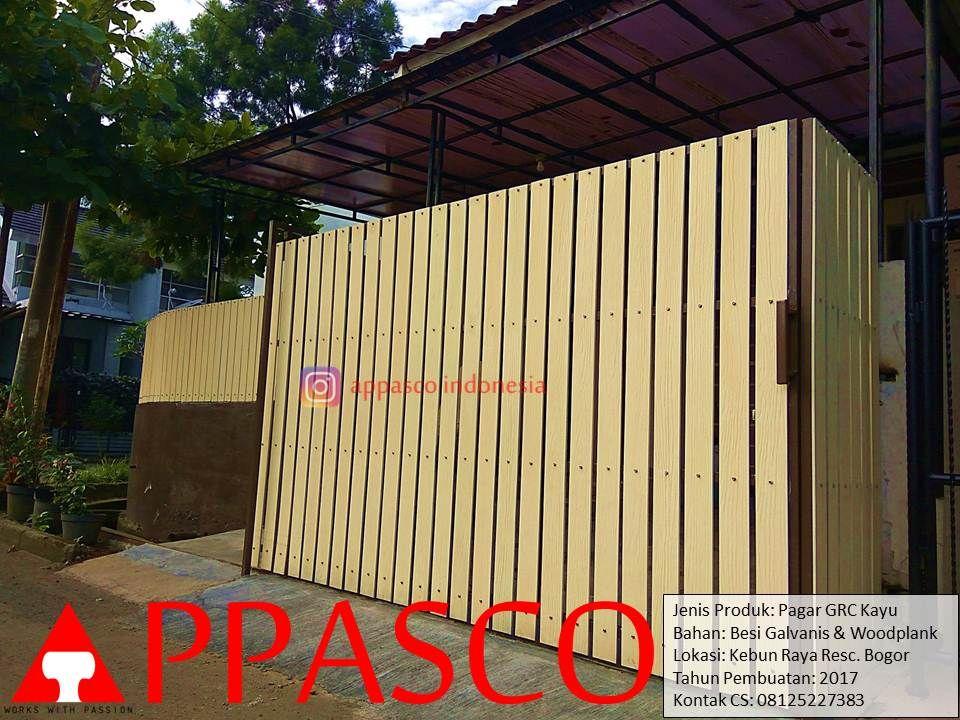 Pagar Grc Kayu Woodplank Di Kebun Raya Residence Bogor Dengan