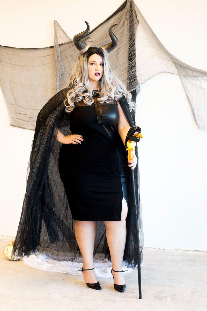 Coolest DIY Maleficent Plus Size Halloween Costume Idea   PLUS ...