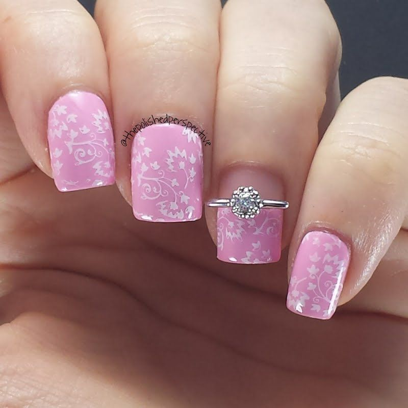 Variety Of Nail Art By Yours Truly: Make Your Mani Pretty In Pink In This Feminine Stamped