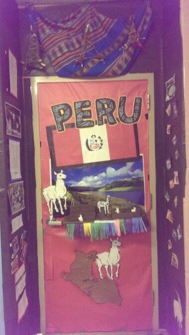 Peru door decoration | classroom ideas | Pinterest ...