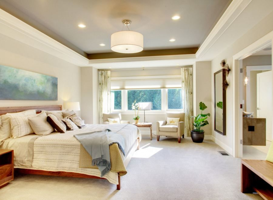 Design Ideas For A Recessed Ceiling Master Bedroom Lighting