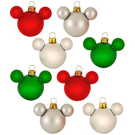 Mickey Mouse Ornament Set Mini Ornament Sets Disney Store