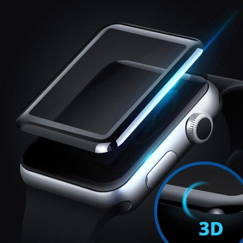 Full Coverage Tempered Glass For Apple Watch 4d 3d Curved Surface