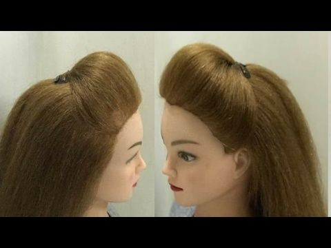 Everyday Half Full Puff Hairstyles No Tease No Bumpits Youtube