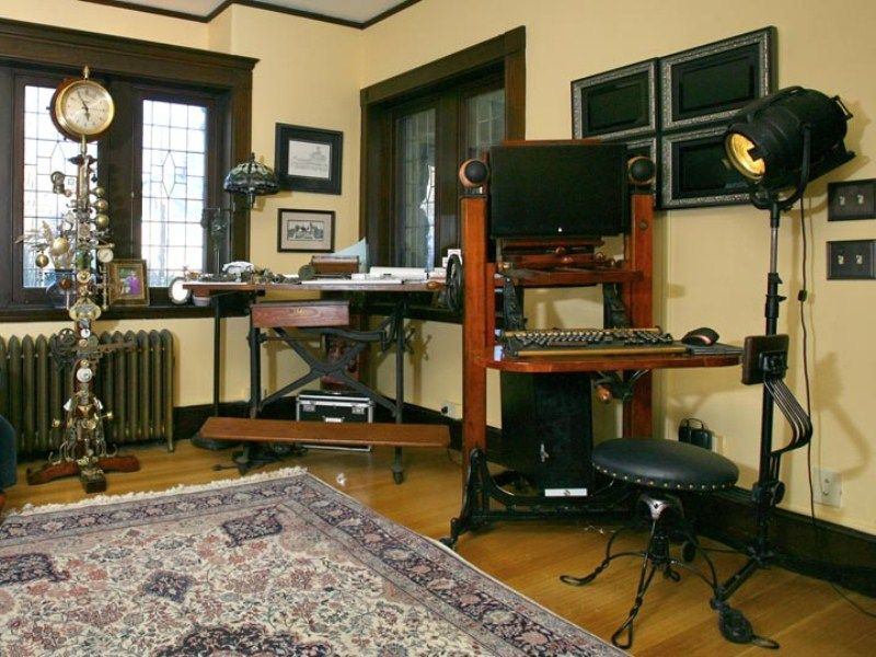 Beautiful 28 Crazy Steampunk Home Office Designs | DigsDigs
