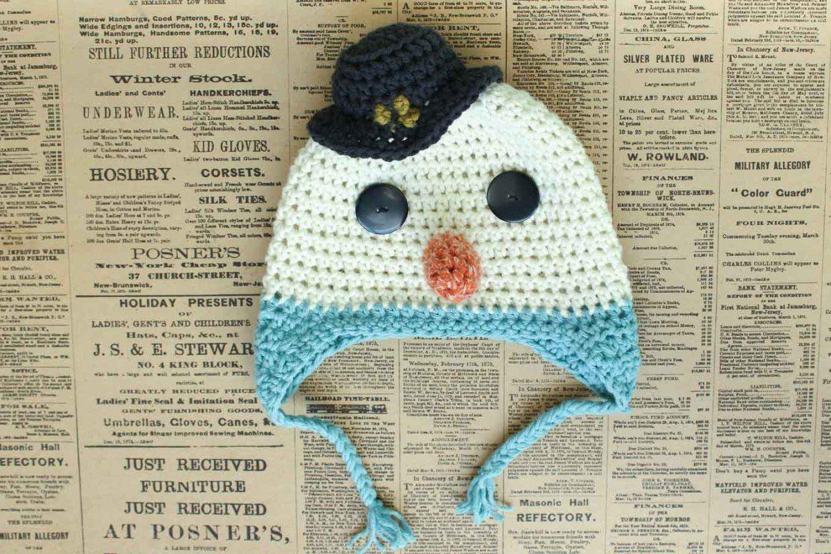 Free Crochet Hat Pattern--a Baby Snowman!