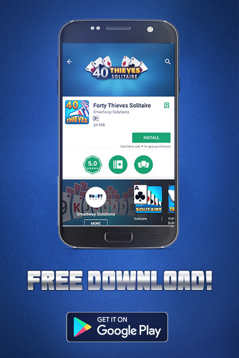 Forty thieves solitaire game play online for free download.
