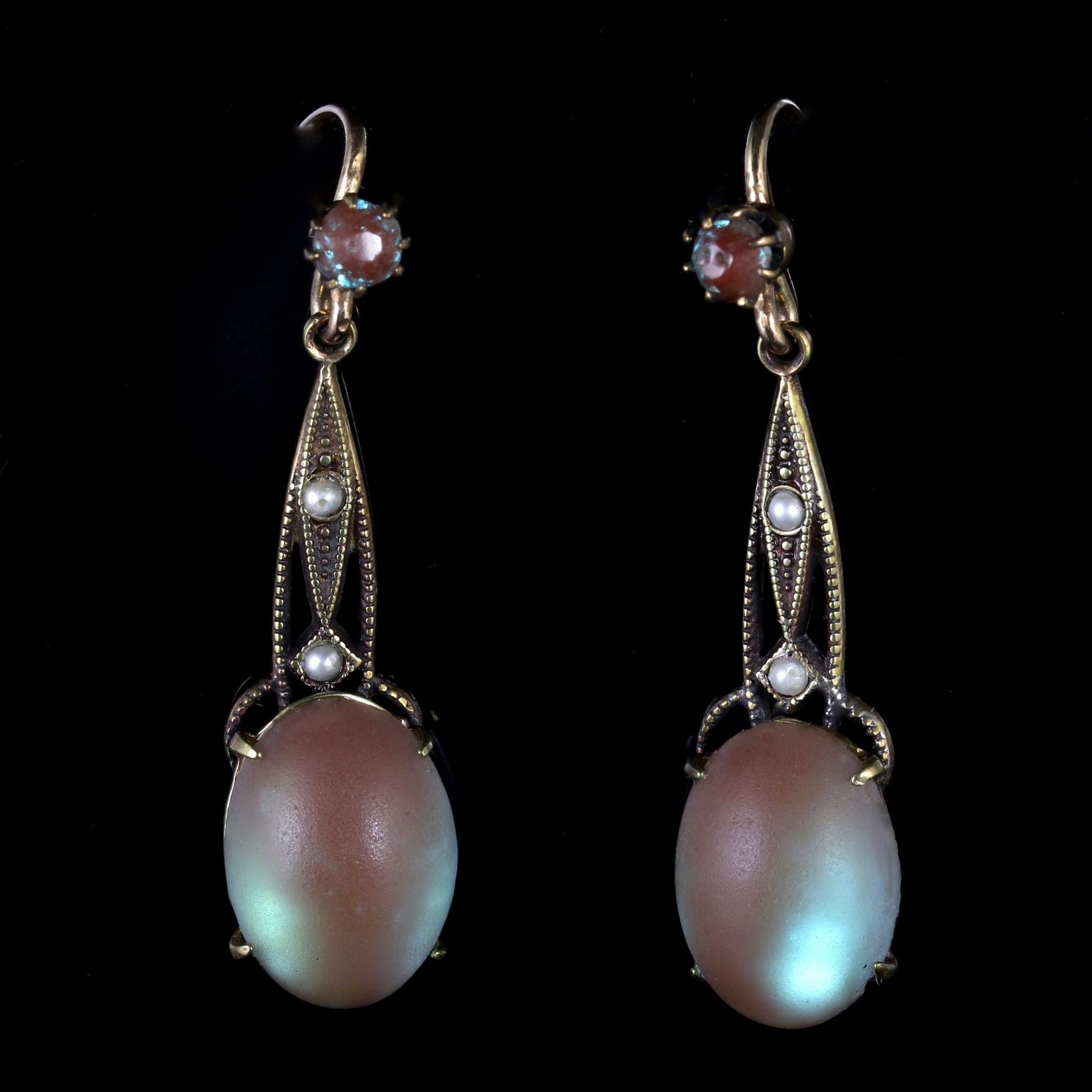 Vintage pearl drop gold earrings bocheron pearl earrings gold - Antique Victorian Saphiret And Pearl Silver Gold Earrings Circa 1900