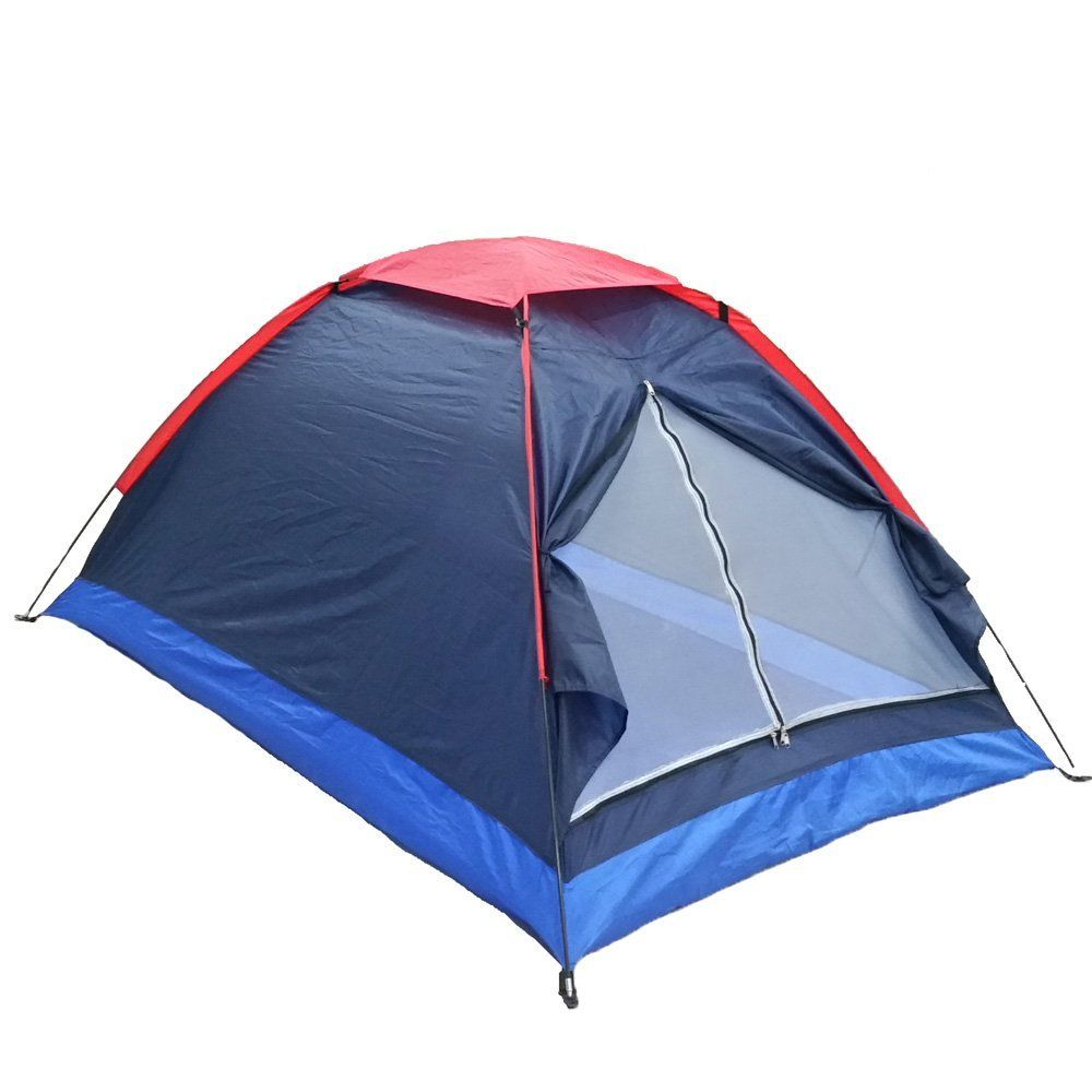 Polyester Fiber Tent Fiberglass Pole Waterproof Outdoor 2 People Camping Tent With Bag For Picnic Travel Hiking Family Tent Camping Beach Tent Tent Camping