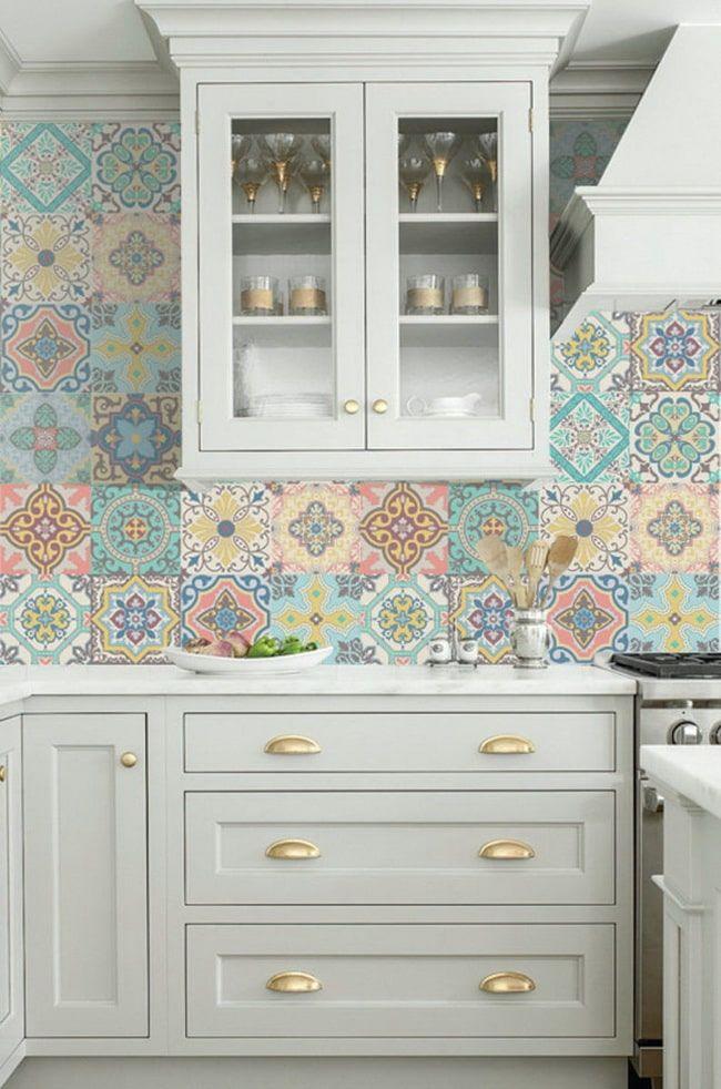 Azulejos Adhesivos Para Cocina Con Imagenes Vinilo Azulejos