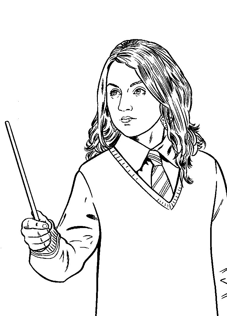 Luna Lovegood Harry Potter Coloring Pages Harry Potter Colors