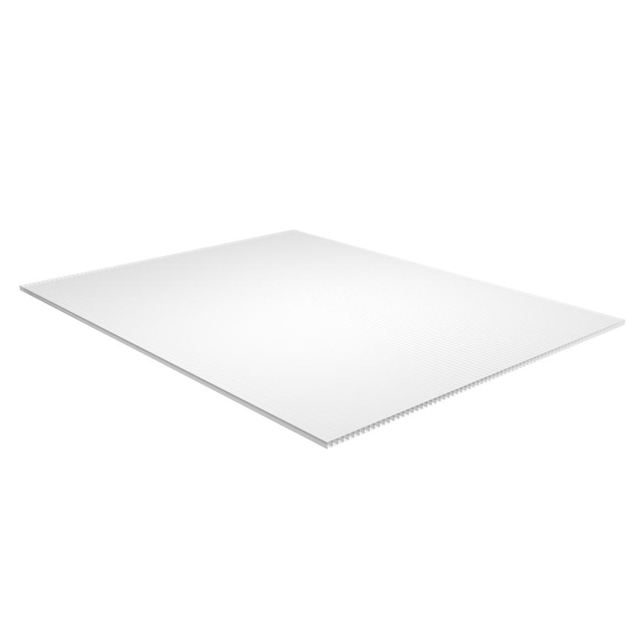 Plaskolite T X W X L White Corrugated Plastic Sheet Lowes Com Corrugated Plastic Sheets Plastic Sheets Corrugated Plastic