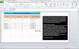 Programar En Vba Macros Para Excel Formulario De Alerta Y Envío De Mail Formularios Macros Programar