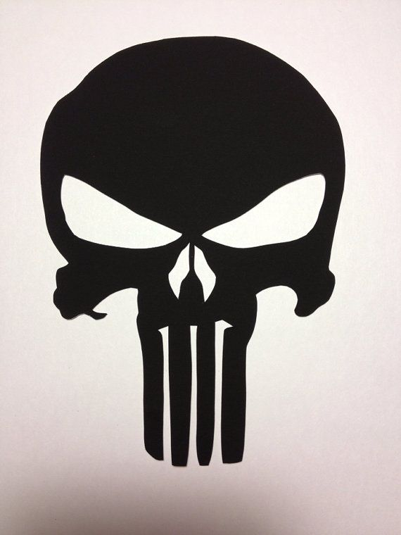 747bd871c Punisher Skull symbole piquéesmain noir par CuttingPixels sur Etsy ...