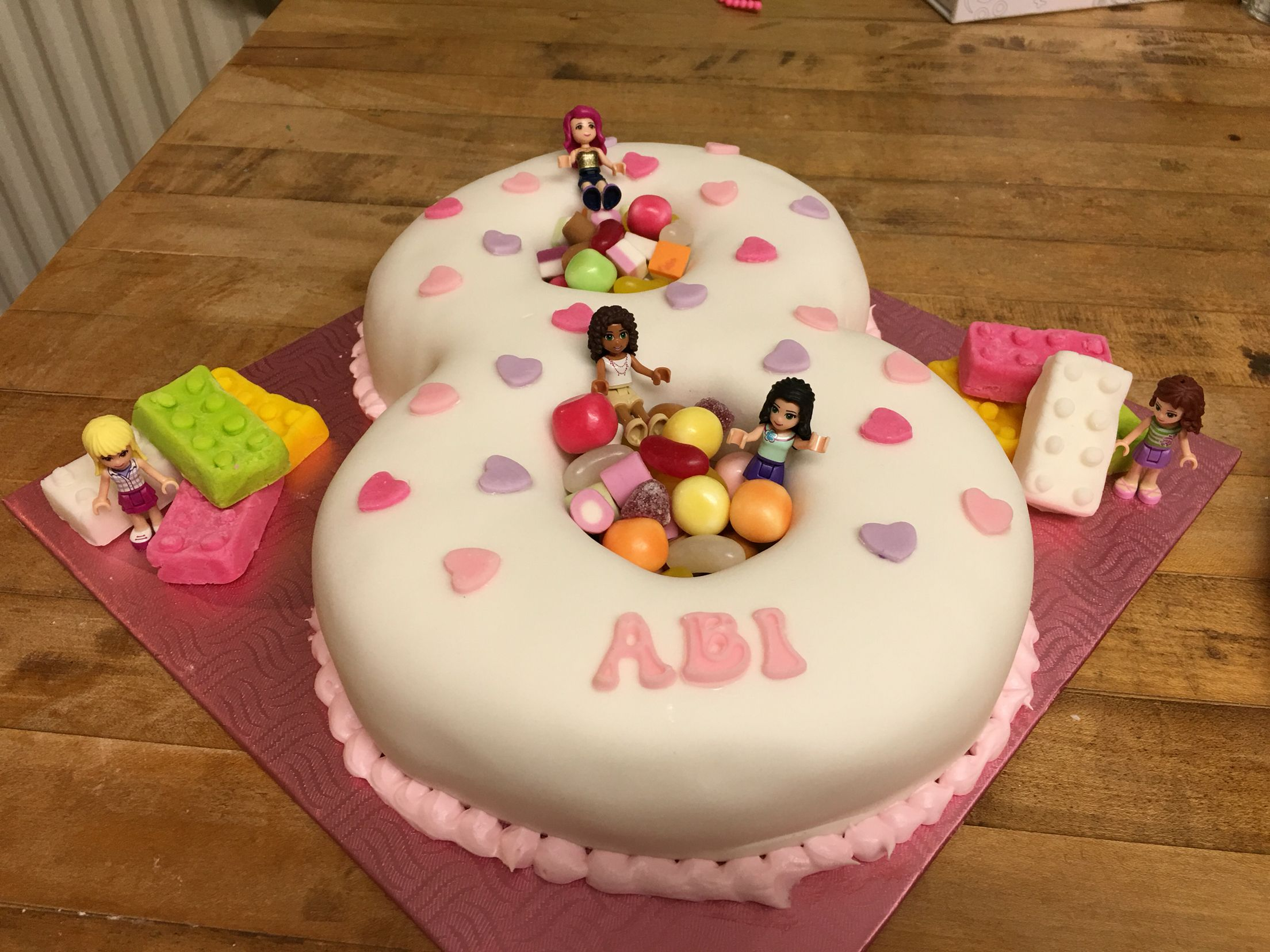 Girls 8th Birthday Cake Lego Friends Birthday Cakes Pinterest