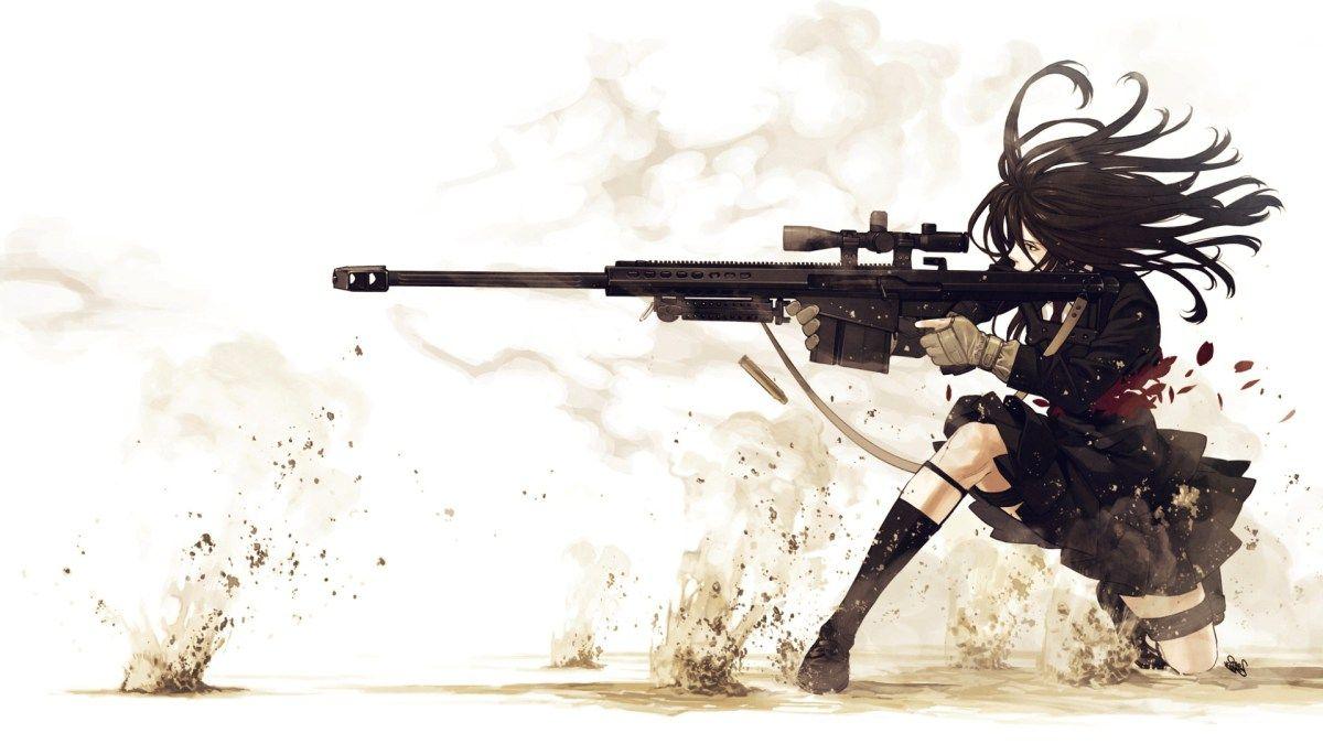 Girl Sniper Wallpaper - DHDWallpaper.com  Guns wallpaper, Anime