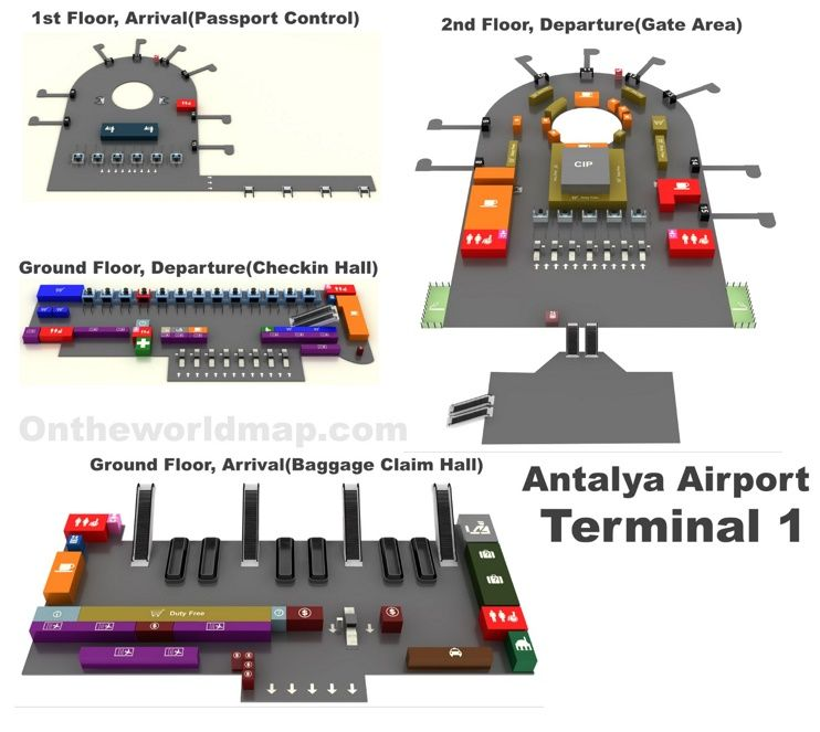 Antalya Airport Domestic Terminal Map Maps Pinterest Antalya